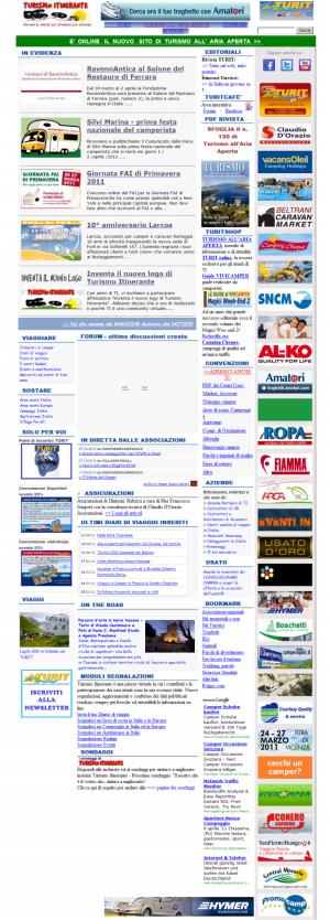 La home page di TI nel 2010