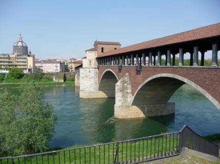 Il Ponte coperto di Pavia | veduta sul Ticino