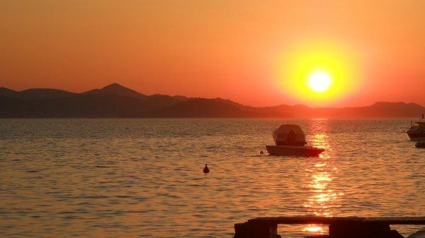 Uno splendido tramonto in Croazia