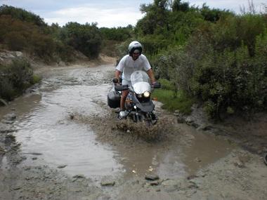 Guado Saleccia in moto
