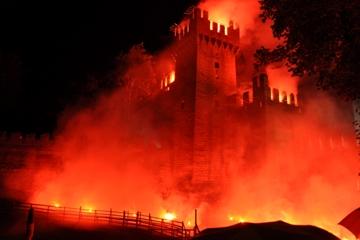 amici in moto dal Friuli all' Emilia Romagna turismo in moto castello