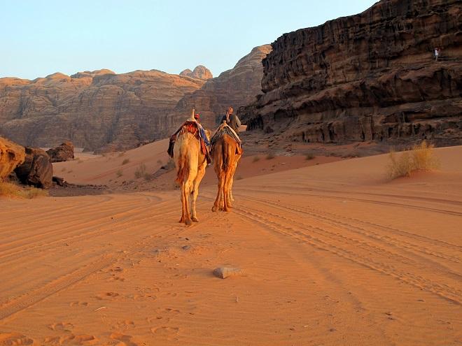 Wadi Rum.ill deserto al Tramonto