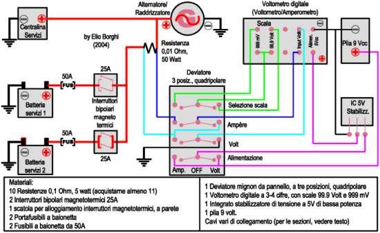 Schema Elettrico Frigorifero : Schema elettrico camper fare di una mosca