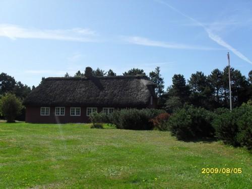 Le tipiche case danesi con il tetto di paglia
