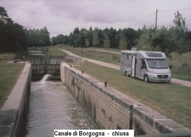 chiusa Canale di Borgogna | camper
