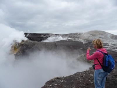 La salita ai crateri centrali dell'Etna