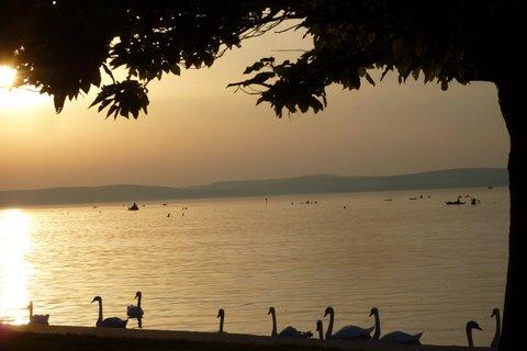 tramonto a Balaton
