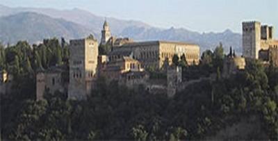 L'Alhambra con il palazzo di Carlo V