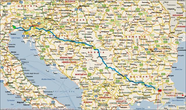 Cartina Slovenia Stradale.Mappa Del Viaggio In Camper In Turchia Raimondo 1 Ti Turismo Itinerante