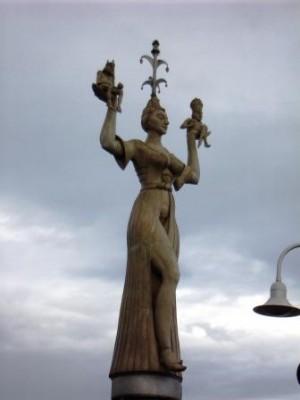 La statua di Imperia a Costanza