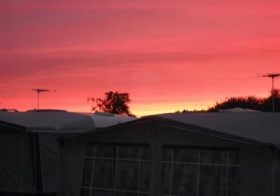 Halmstad un magnifico tramonto roseo