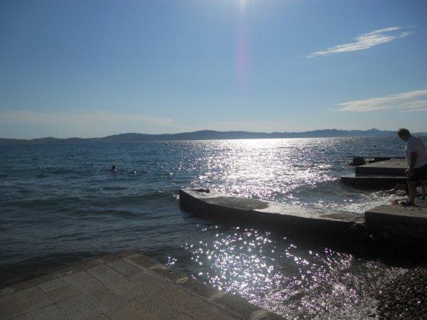 Il mare di Zara in Croazia