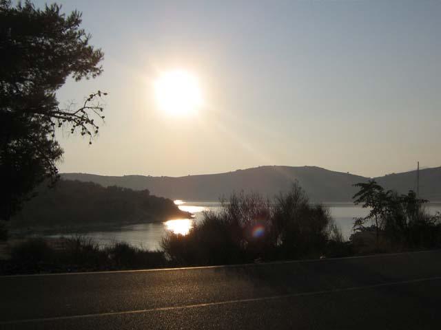 Porto Palermo al tramonto