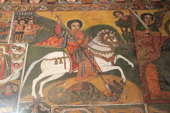 Dipinto nella chiesa di Debre Berhan Selassie