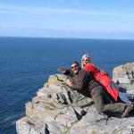 Nunzio e Laura sulla scogliera del Dun Aengus