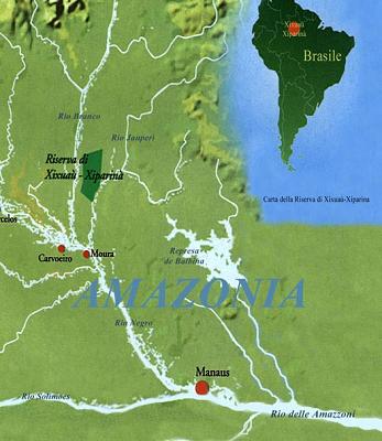Cartina Amazzonia