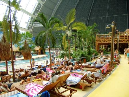 La spiaggia del Tropical Islands