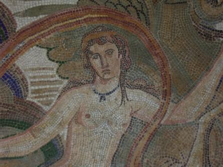 Particolare di uno dei mosaici del Museo di El Jem