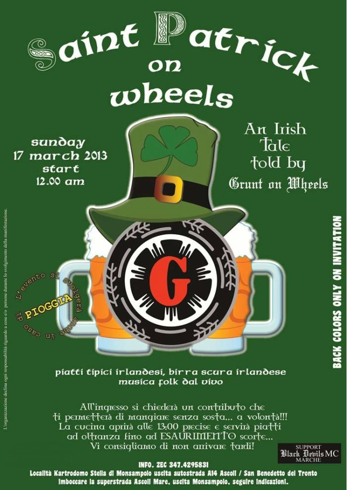 Motoraduno SAINT PATRICK ON WHEELS