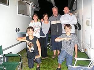 L'equipaggio. Livio, Daniela, Mattia, Stefano, Antonella e Matteo.