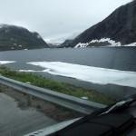Laghetto ghiacciato verso Flåm