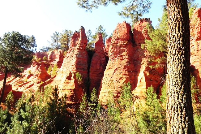 Rocce d'ocra a Roussillon