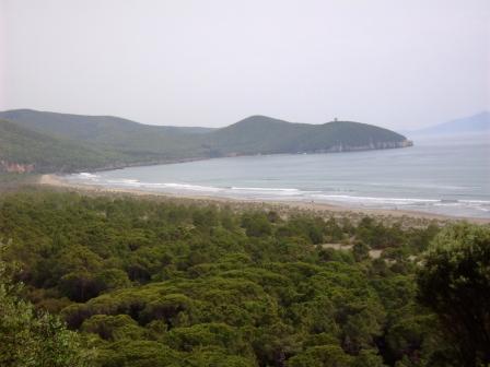 La bellissima spiaggia del Parco regionale della Maremma