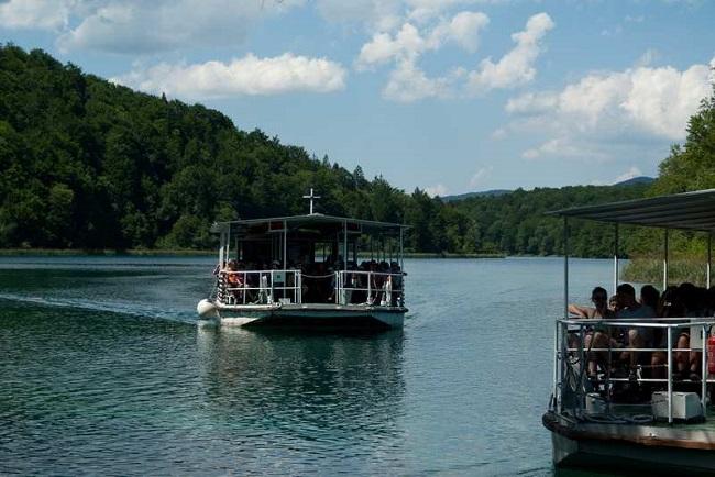 Battello elettrico laghi di Plitvice