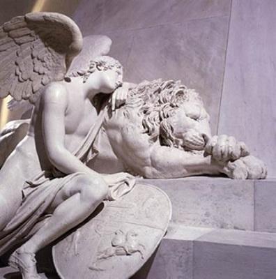 Riproduzione del Monumento funebre a Maria Cristina d'Austria. Particolare