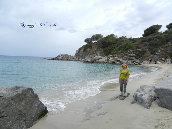 Marcella sulla spiaggia di Cavoli
