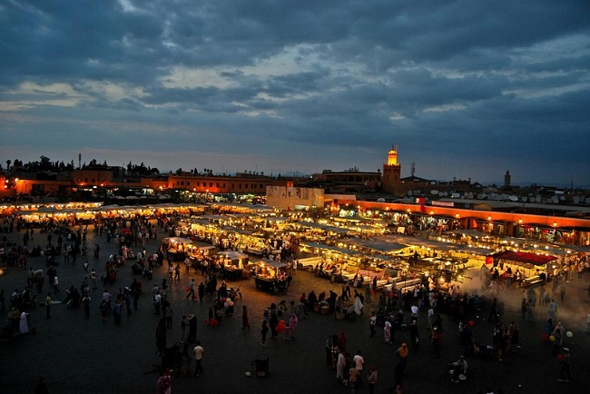 Piazza Jāmiʿel-Fnā a Marrakech