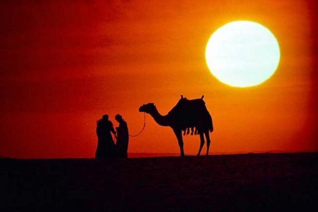 Tramonto nel deserto