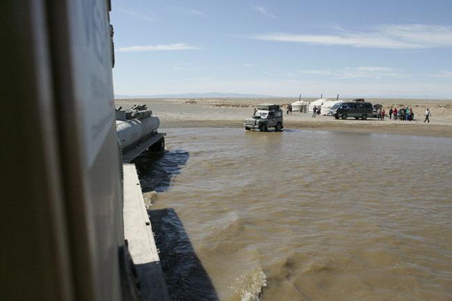 guado fiume per Altai - Asia Tour
