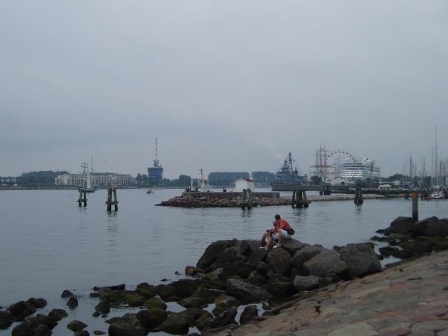 Warnemünde – panorama del porto canale
