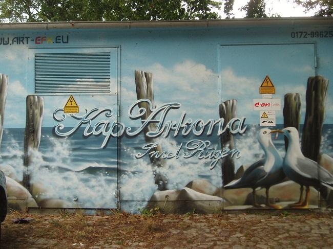 Rugen: Kap Arcona - murales